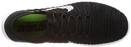 Nike Herren Free RN Motion Flyknit Laufschuhe Black (Schwarz / Weiß-Volt-Dunkelgrau)