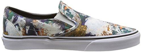 Vans U Classic Slip-on Earth, Unisex-Erwachsene Sneakers Mehrfarbig (earth/blue/true White)