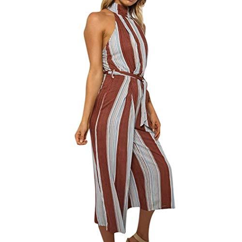 b11db032310 ZHRUI Pantaloncini a Righe Rosse con Pantalone a Righe Pantaloncini Donna  da Donna