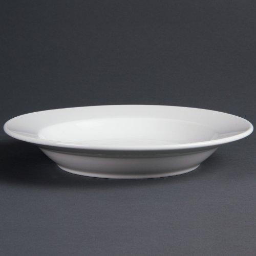 Assiettes Creuses Blanches En Porcelaine 270Mm Olympia 270(Ø) Mm. Blanc. Boîte De 6 Pièces. Vaisselle De Table