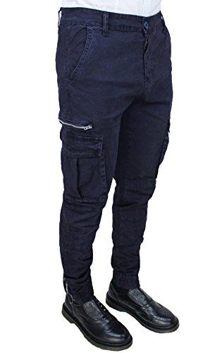 Tony Backer Herren Hose blau dunkelblau 36