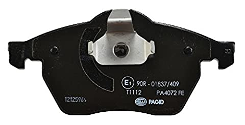 HELLA PAGID 8DB 355 008-041 Bremsbelagsatz, Scheibenbremse, Vorderachse