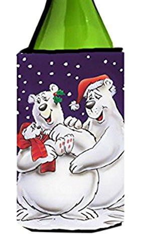 holiday-polar-bears-wine-bottle-koozie-hugger-aah7269literk