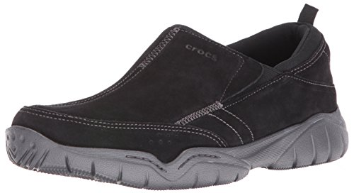Crocs Swiftwater Suede Moc, Baskets Basses Homme Noir (Black/Graphite)