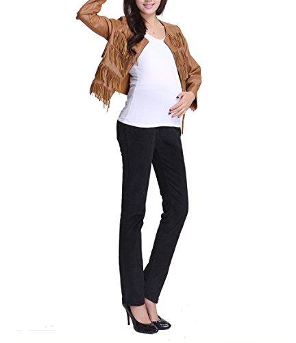 Angebébé - Pantalon velours côtelé de grossesse - Pantalon velours côtelé de femme enceinte Noir