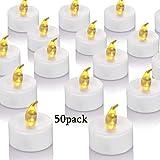Candele a LED, portò candele flickering flameless candele,100 Ore Lunga Durata della Batteria, per Decorazione di Casa Camera Natale Partito Matrimoni Compleanno 50pcs