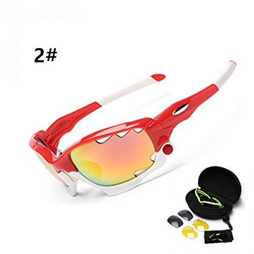ZKAMUYLC SonnenbrillePolarisierte Radfahren Sonnenbrillen Outdoor Sports Fahrrad Brillen Fahrrad Sonnenbrillen Brille Eyewear 3 Objektiv
