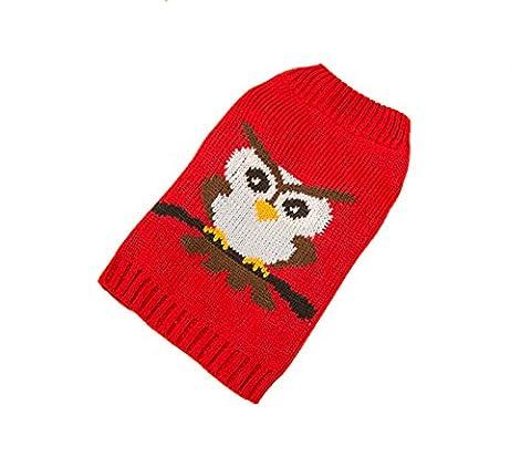 Dorapocket Chien Halloween Hibou à tricoter Pull de Noël pour chiot Petit Chien Chat Vêtements Animal au chaud Robe chiots Printemps Automne et manteau d'hiver