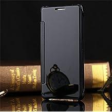 Coque Samsung Galaxy S7 Edge Flip Cover Clear View Spéculaire sommeil / réveil Fonction étui Housse Bumper,noir