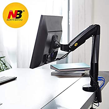 White North Bayou Monitor Desk Mount Stand Full Motion Swivel Monitor Arm for 22-35 Display with Weight Range 3-9kg