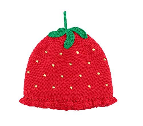 GGBaby@ Strickmütze Baby-Mädchen Baumwolle Erdbeere-Form Niedliche Mütze Frühling...
