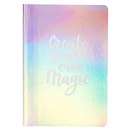 A5 Mermaid Iridescent Lined Notepad Notebook Office School -