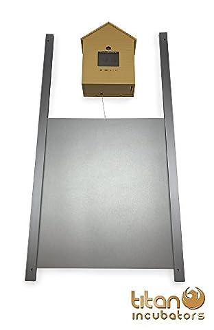Porte métallique pour poulailler + Ouvre-porte automatique de poulailler, modèle