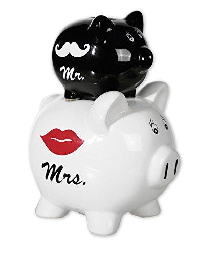 Alcancia Cochinitos bodas - Mr. & Mrs. Double Piggy