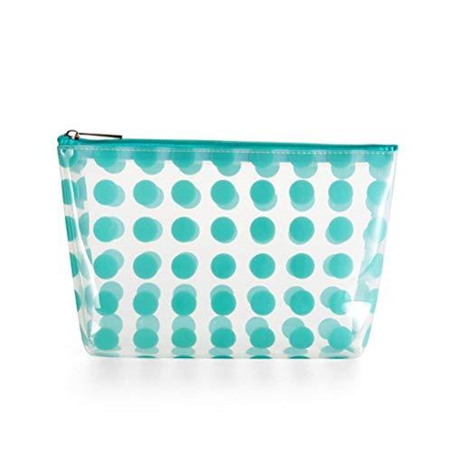 Transparent PVC voyage maquillage trousse de toilette sac clair imperméable à l'eau cosmétique poche organisateur de sac pour les filles femmes avec fermeture éclair,Green