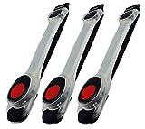 ChiliTec LED Jogging Armband mit Klett-Verschluss I 3 Stück I Rotes Licht Hohe Lichtbarkeit für Walken, Klettern, Sport