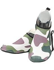 Fortuning's JDS Adulto duradera Único Neoprene camuflaje descalzo zapatos de piel de agua Aqua calcetines para piscina de playa Nadar Surf Yoga Deportes acuáticos