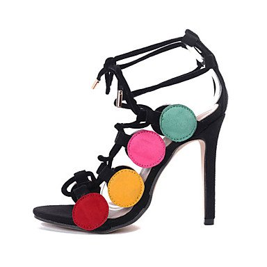 LvYuan Da donna Sandali Felpato Estate Lacci A stiletto Arcobaleno 10 - 12 cm rainbow