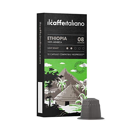 Nespresso 60 kompatible Kapseln - Il Caffè Italiano - Äthiopien 100% Arabica Intensity 8