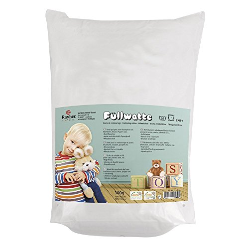 Rayher - Ouate de Rembourrage, très moelleux, Sachet de 300g, 100% polyester, lavable, blanc Rayher Hobby