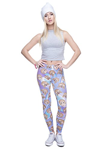 Fringoo Yoga-Leggings für Damen, enganliegend Holo Monkeys