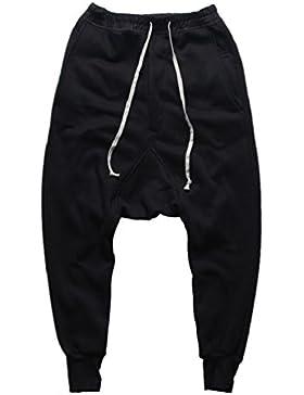 Dooxi Hombres Casual Deportivos Jogger Pantalones Moda Suelto Elásticos Cintura Harén Pantalon Hip Hop Sweatpants