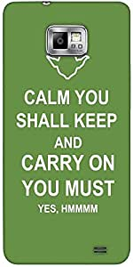 Snoogg Keep Calm And Carry On Solid Snap On - Back Cover All Around Protectio...