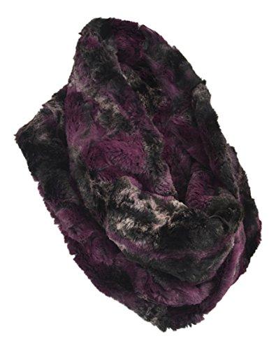 Pia rossini–sciarpa scaldacollo da donna di lusso in finta pelliccia spessa e elegante in 4design luella purple taglia unica