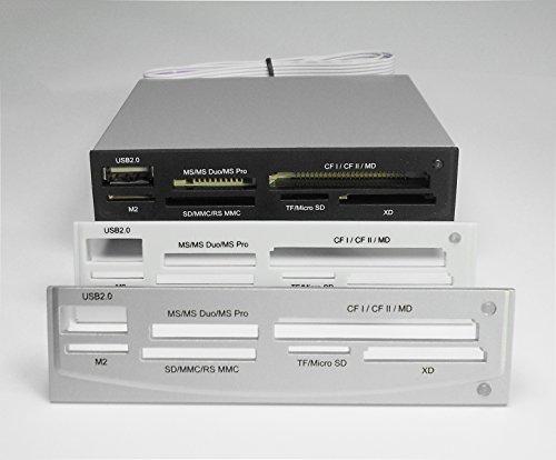 """3,5"""" Kartenleser intern, all in one mit 1x USB mit wechselbaren Frontblenden (Schwarz / Beige / Silber)"""