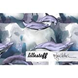 Lillestoff Jersey Delphinträume Delfin Wellen BLAU *** 50
