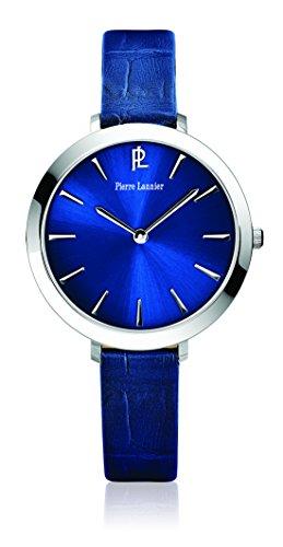 Pierre LannierWeek End Basic 011H666 -Reloj de mujer, movimiento de cuarzo, analógico, esfera azul, correa de piel azul