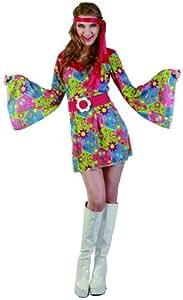 Déguisement hippie femme à fleurs - Taille Unique