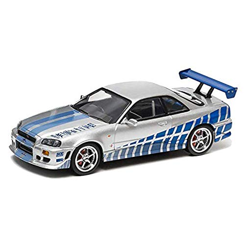 Chidi Toy (Escala 1: 18 Artisan Collection - Fast & Furious - 2 Fast 2 Furious (2003) - 1999 Nissan Skyline GT - R (R34) vehiculo