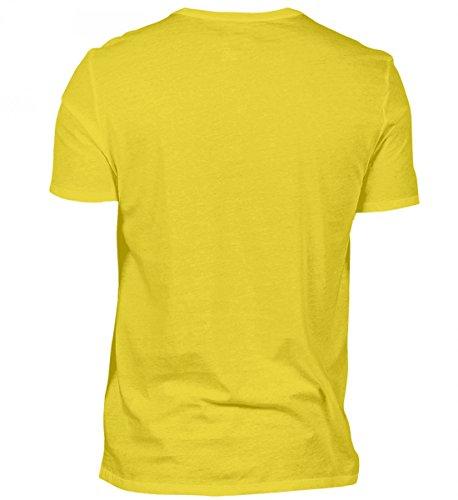 Shirtee Hochwertiges Herren Shirt - ein Stier Wird 30 Indischgelb
