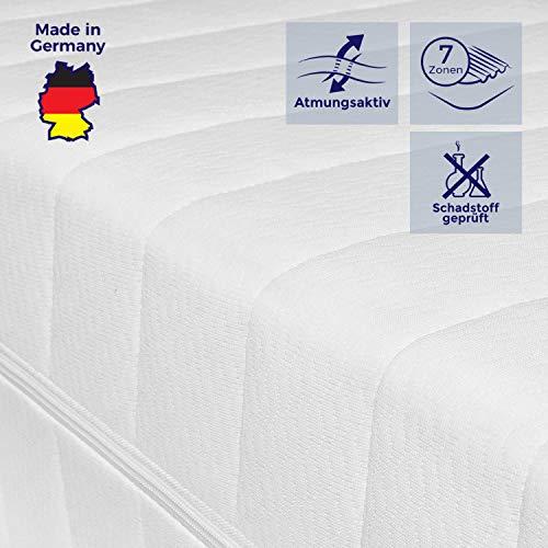Mister Sandman atmungsaktive 7-Zonen-Kaltschaummatratze für erholsamen Schlaf - Matratze mit hochwertigem Doppeltuchbezug, Härtegrad H2&H3, Höhe 15cm (180 x 200 cm, H2 & H3) -