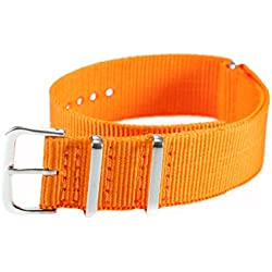 AMPM24 Fashional Orange Nylon Sport Army Watch Band Straps For Men Women 20mm WB2002