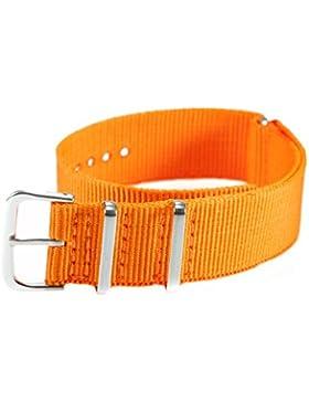 AMPM24 20 mm Nylon Uhrenband Durchzugsband Uhrenarmband Uhren Armband Band Unisex Neu