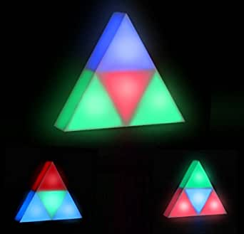 Triangle Mood Light With 4 Colour Changing Sections