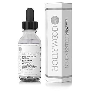 Serum Retinol 2.5% -4 veces más FUERTE que tratamientos antiedad y para acné regulares. Con 11% de Ácido Hialurónico y 20% de Vitamina C, mayor concentración. 30ml (1 Bottle)