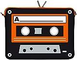 Digittrade LS132-11 Old School Designer Schutzhülle für Laptops und Netbooks mit einer Bildschirmdiagonale von 29,5 cm (11,6 Zoll) orange-schwarz