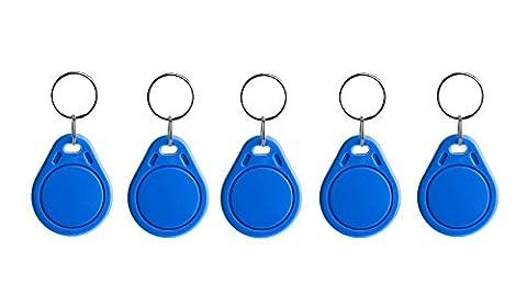 NFC2168332Pendentif, NTAG 216, 888Byte Bleu 30x 40mm, 5Pièces pour Smartphone NFC