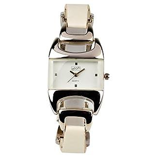 Eton 2933L white – Reloj para mujeres, correa de metal color blanco