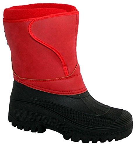 Groundwork-Stivali in materiale sintetico da donna Red