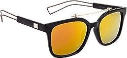 Xforia Boys Sports Sunglass Yellow Mercury Wayfarer Sunglasses For Men & Women (Poloroid | AH19)