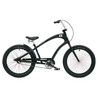 Electra Straight 8 3i Cruiser Men's Herren 3 Gang Fahrrad Cruiser Schwarz Black, Electra2302
