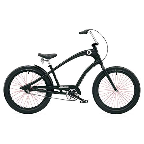 Electra Straight 8 8i Cruiser Men\'s Herren 8 Gang Fahrrad Cruiser Schwarz Black, 268213E