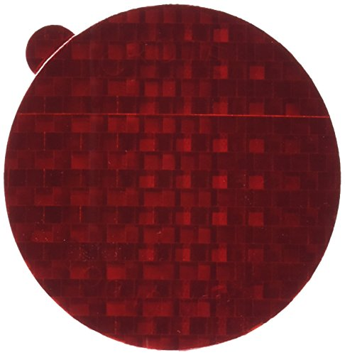 Grote 41142 Red 2 15/16' Round Stick-On Tape Reflectors