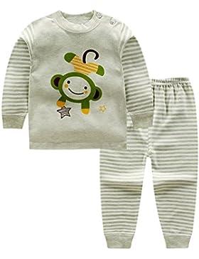 Blaward Pijama Dos Piezas - Cuello Redondo - Manga Larga - para niño Dormir Pijamas Largos Pjs Conjunto para niños...