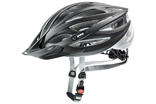 UVEX Herren Fahrradhelm Oversize, Black Mat-Silver, 61-65, 4101600617