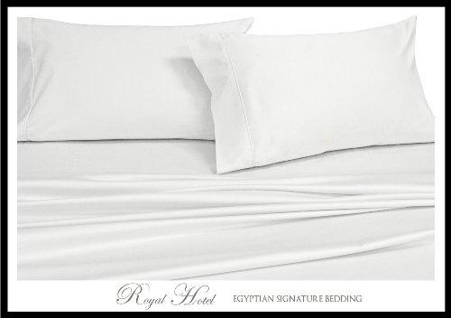 Royal Hotel 's Solid Weiß california-king Größe 4down-alternative Tröster Set 300-thread-count 100% Rayon aus Bambus (California King-down-alternative Tröster)